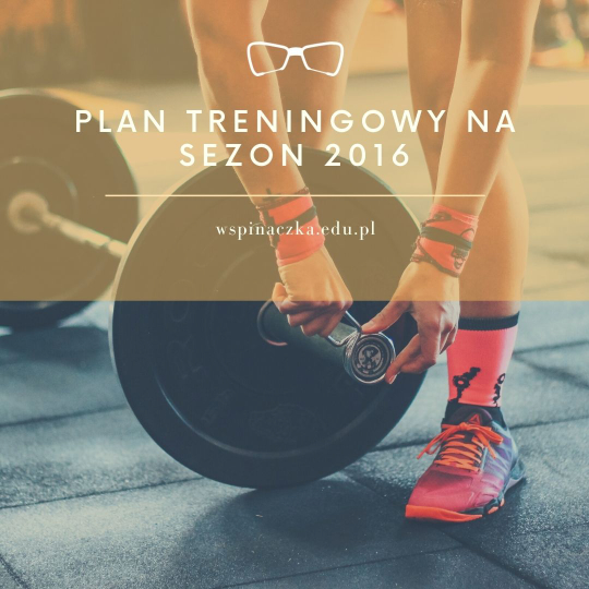 Plan treningowy 2016