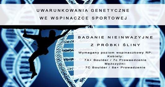 geny a wspinanie